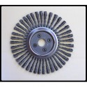 Narrow radial twisted-wire brushes