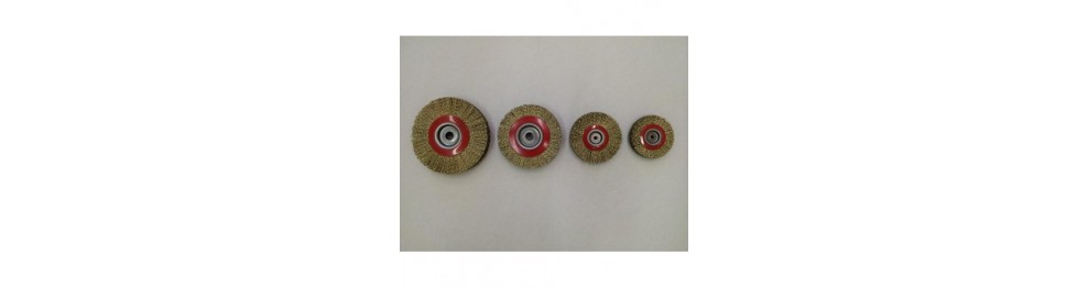 Cord wire disc brushes