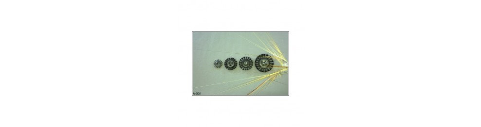 Radial twisted-wire brushes
